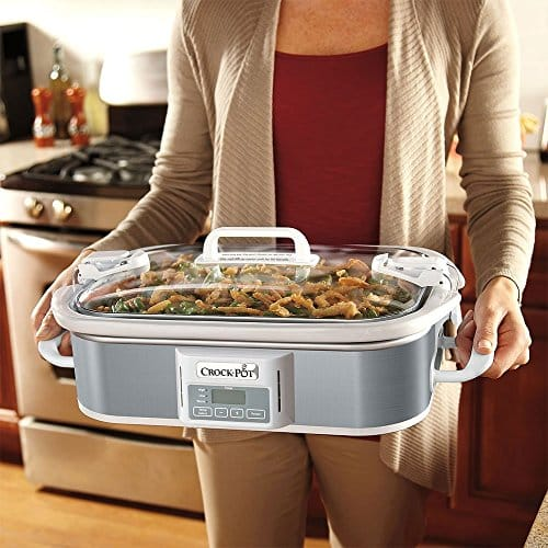 Crock Pot SCCPCCP350 SS Programmable Digital Casserole Crock Slow Cooker 35 Quart Stainless Steel 0 1