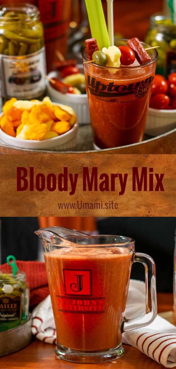 Bloody Mary Mix Pinterest