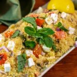 Couscous with Roasted Red Peppers and Feta Cheese