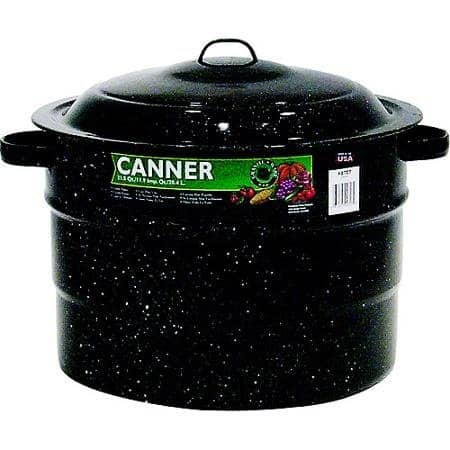Granite Ware 215 Quart Porcelain Canner With Rack 0