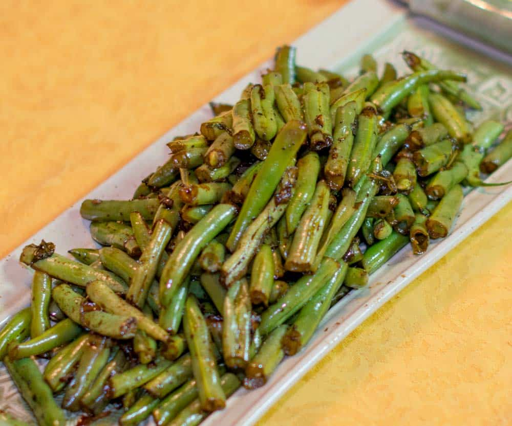 Sauteed Gree Beans Balsmic Vinegar