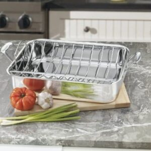 Cuisinart Chefs Classic Stainless 16 Inch Rectangular Roaster With Rack 0 0