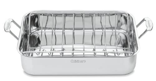 Cuisinart Chefs Classic Stainless 16 Inch Rectangular Roaster With Rack 0