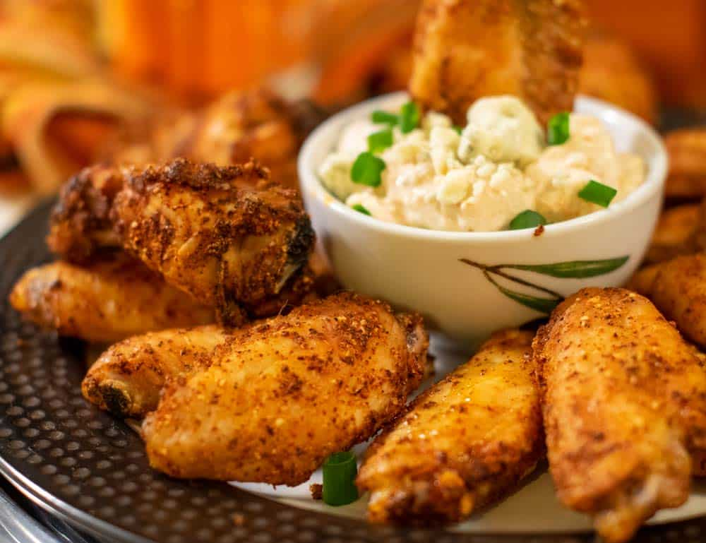 Cripsy Chicken Wings On Plate