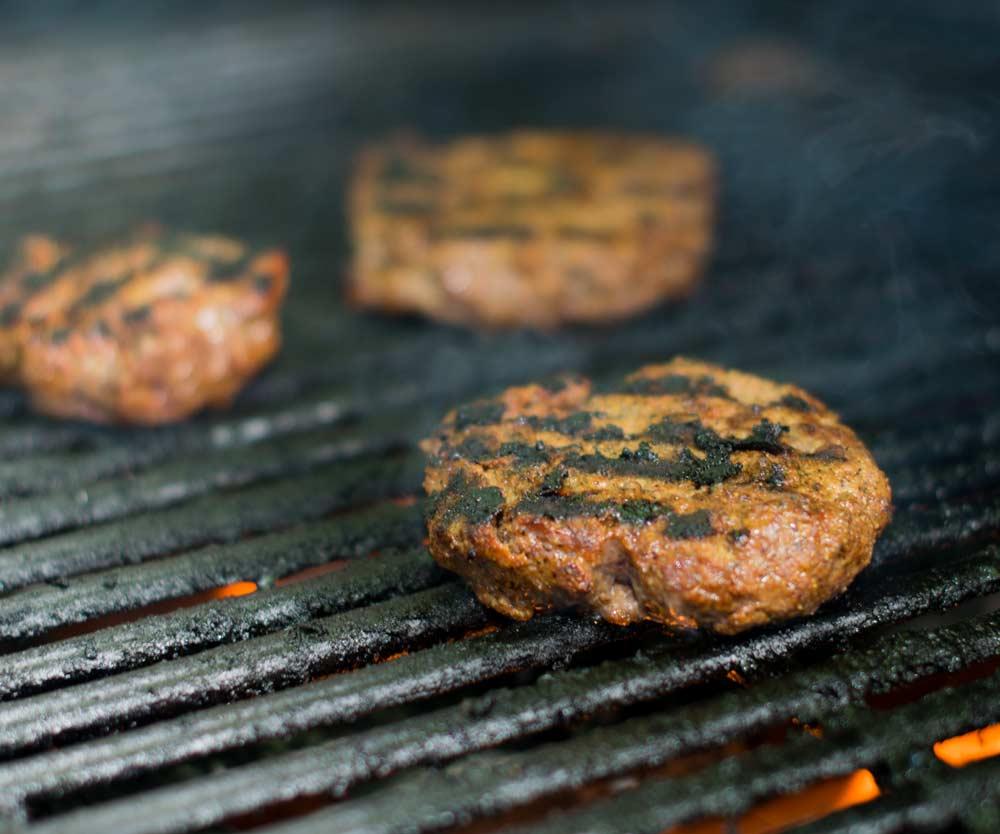 BBQ Burgers On Grill 2021