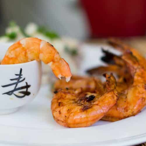 Grilled BBQ Shrimp Recipe Featured