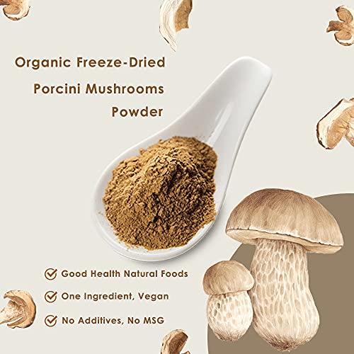 Orgnisulmte Organic Dried Porcini Mushrooms Powder 3 OzWild Grown Premium Quality Umami PowderHand PickedAll Natural Porcini Powder 3Oz85g 0 0