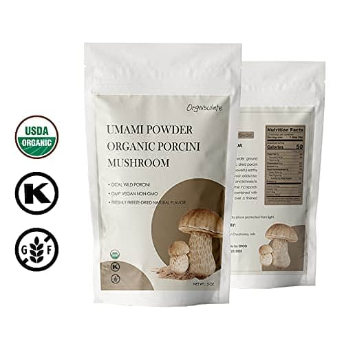 Orgnisulmte Organic Dried Porcini Mushrooms Powder 3 OzWild Grown Premium Quality Umami PowderHand PickedAll Natural Porcini Powder 3Oz85g 0 1