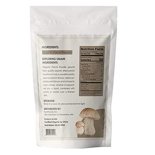 Orgnisulmte Organic Dried Porcini Mushrooms Powder 3 OzWild Grown Premium Quality Umami PowderHand PickedAll Natural Porcini Powder 3Oz85g 0 2