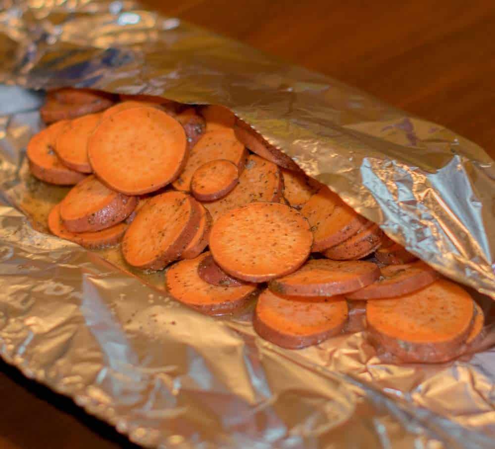 Sweet Potatoes In Foil Packet